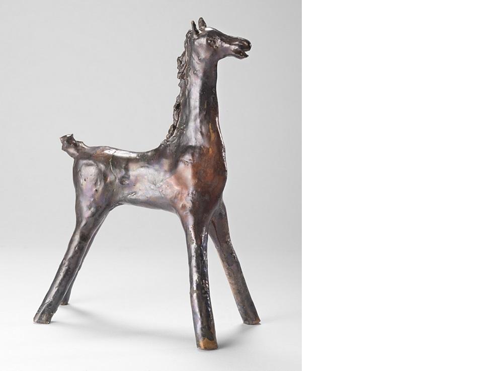 melotti cavallino ceramica